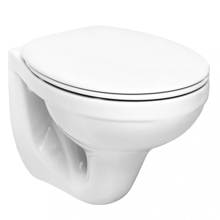 IDOL подвесной унитаз с сидением с микролифтом (белый), фото 1