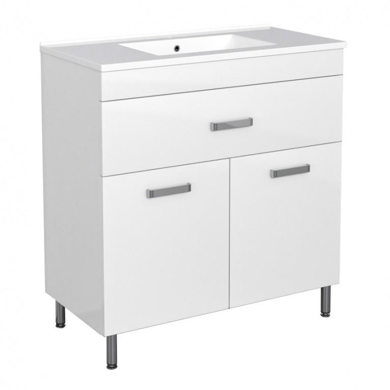 Комплект мебели ROZZY JENORI VELUM 60см, белый