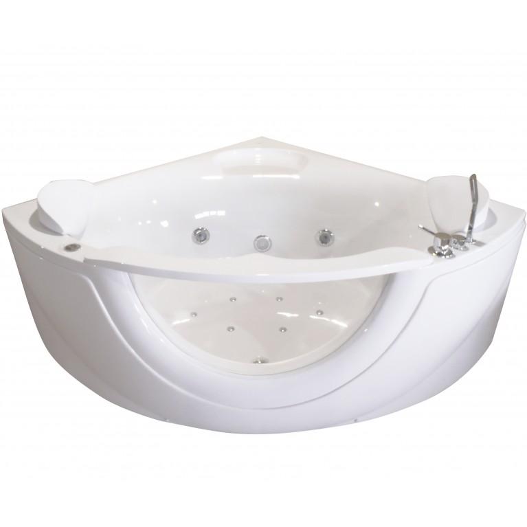 Ванна угловая гидро-аэромассажная 1500*1500*630 мм, акриловая