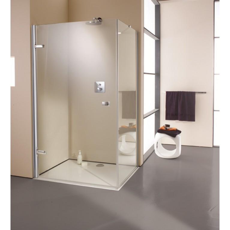 ENJOY STS 1000 дверь распашная для боковой стенки 100 см (профиль хром, стекло прозрачное), фото 1