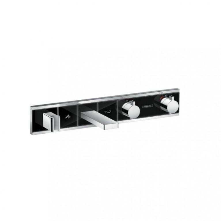 RainSelect Термостат для ванны с 2 кнопками, СМ, черный/хром, фото 1