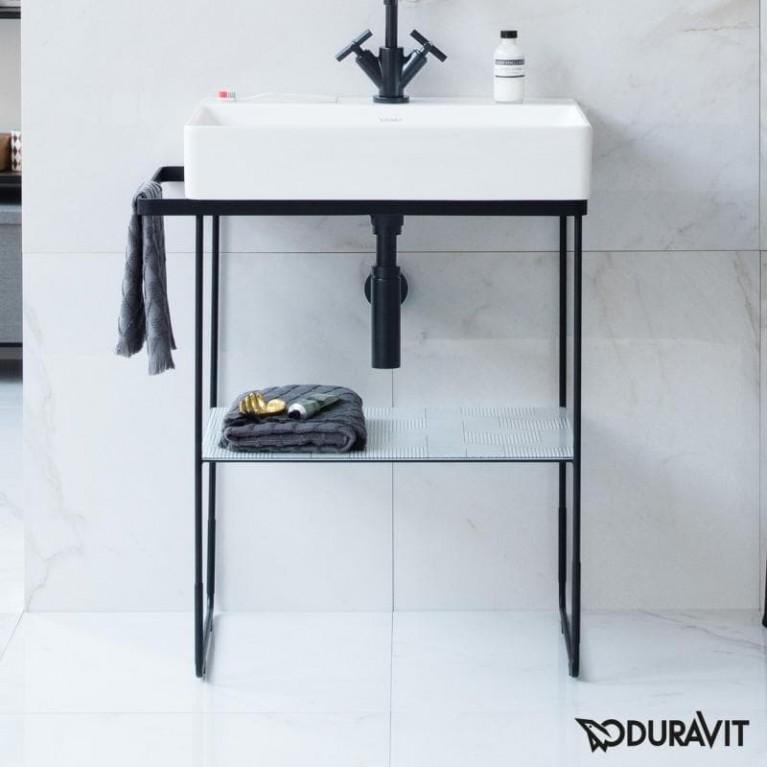 DURASQUARE консоль 66,5*45,1см, металлическая, напольная, цвет черный мат 0031014600, фото 3