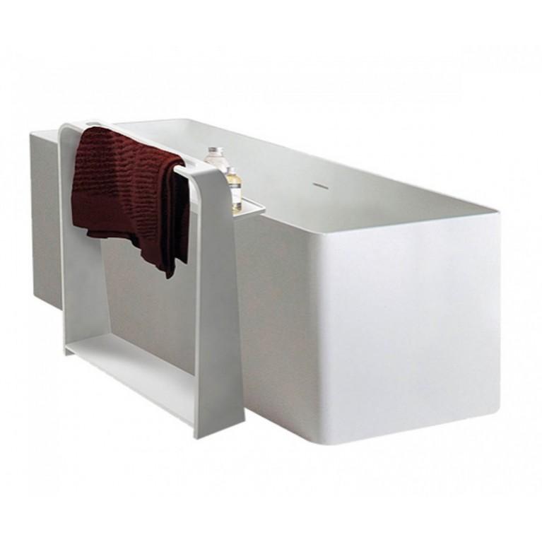 Напольная полка-полотенцедержатель, каменная Solid surface 550*150*680mm
