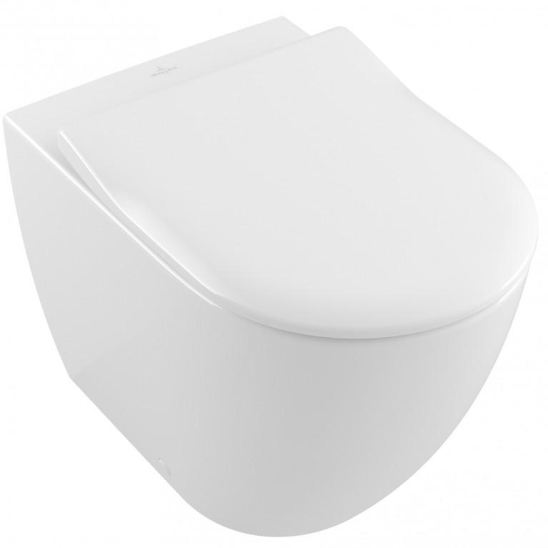 SUBWAY 2.0 унитаз Rimless 37*56см, напольный, под инсталляцию, цвет белый альпин Ceramic plus, фото 1