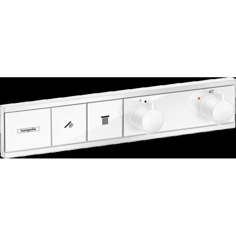 RainSelect Термостат для 2х потребителей, скрытого монтажа, белый матовый, фото 1
