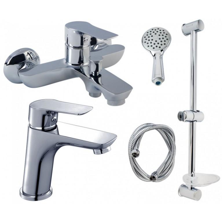 Набор Grоhthеrм 800 термостат для ванны настенный 34567000 + New Temрestа душевой набор 26162001