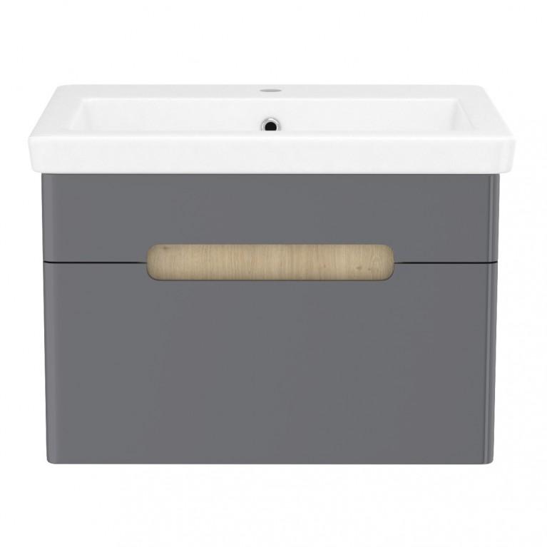 Умывальник накладной + тумба подвесная PUERTA, 1 ящик