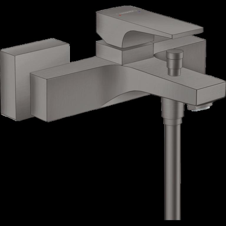 Смеситель для ванны METROPOL , однорычажный, с рычаговой рукояткой, ВМ, шлифованный черный хром, фото 1
