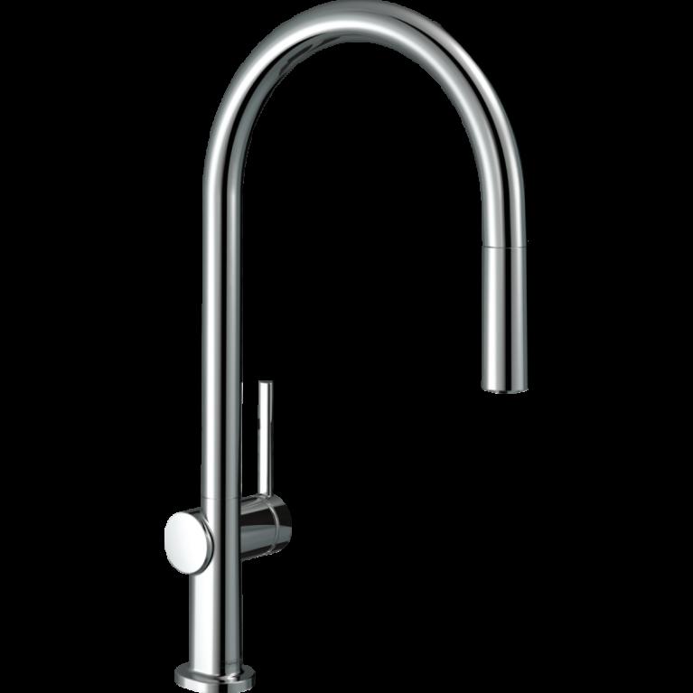 TALIS M54 смеситель для кухни, однорычажный, 210, с вытяжным душем, 2jеt, sBox, хром