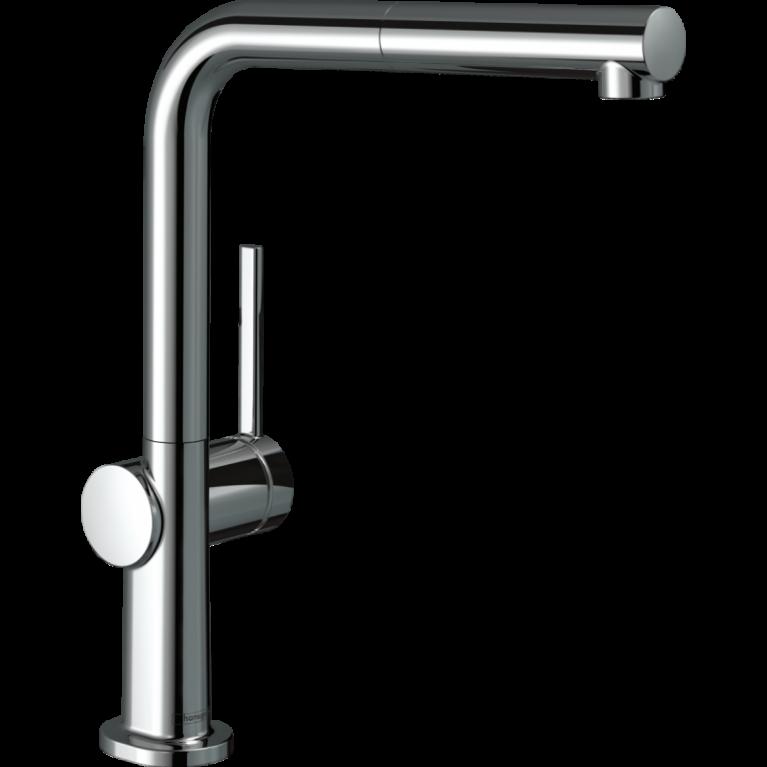 TALIS M54 смеситель для кухни, однорычажный, 270, с выдвижным изливом, 1jet, хром
