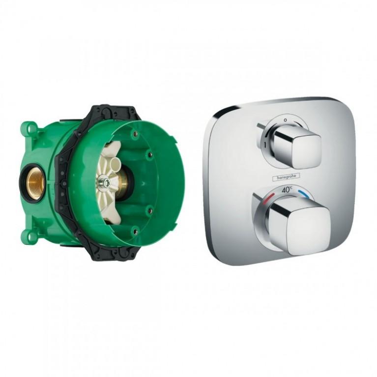 Термостат ECOSTAT E с запорным/переключающим вентилем + IBOX univеrsаl скрытая часть для смесителя (в подарок)