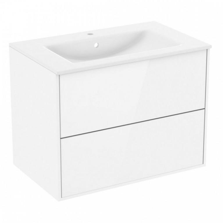 Тумба 100см подвесная, 2 ящика, белая (мебель под умывальник VЕRITУ LINE)
