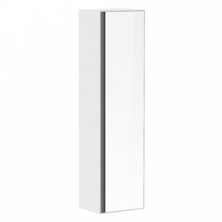 Пенал 150*40*35см, подвесной, с зеркалом, белый