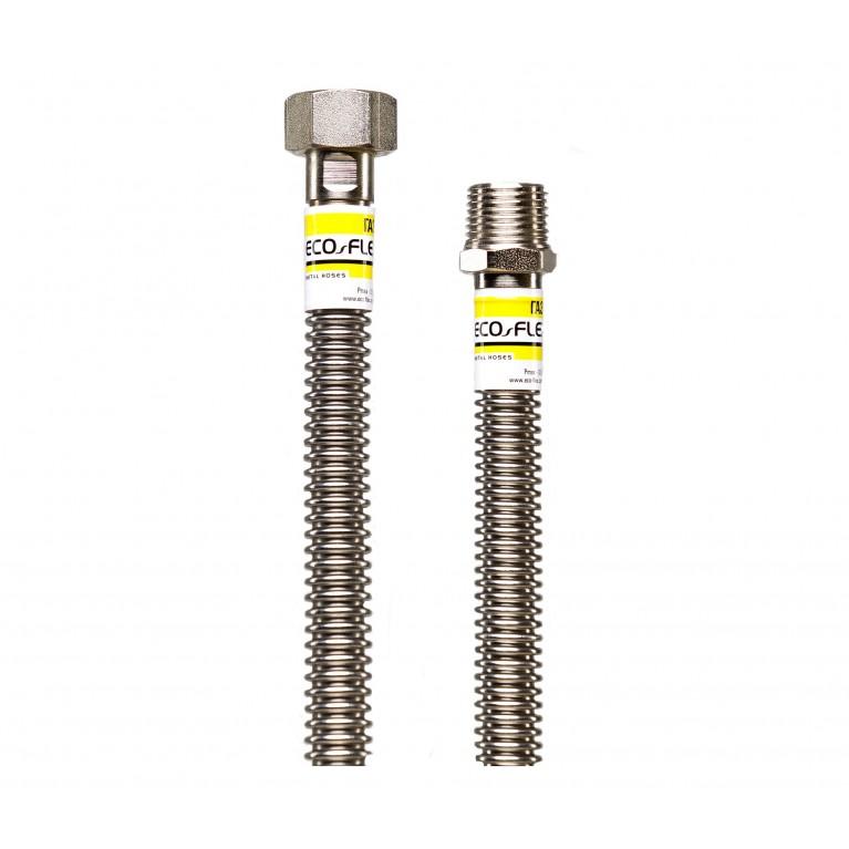Гибкий гофрированный шланг газовый ECO-FLEX DN12 1/2х1/2 ВВ 40 см
