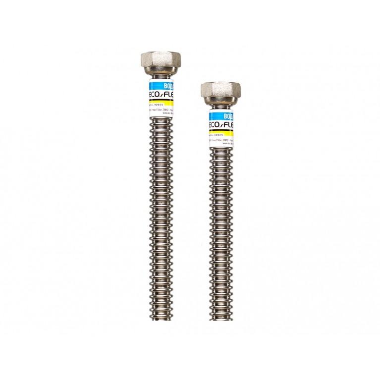Шланг для воды гофрированный нержавеющий ECO-FLEX DN12 стандарт 1/2х1/2 ВВ 100 см