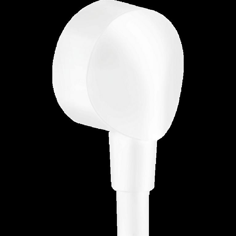 FIXFIT E шланговое подсоединение, 1/2`, без клапана обратного тока воды, внутренняя часть из латуни, цвет покрытия белый матовый