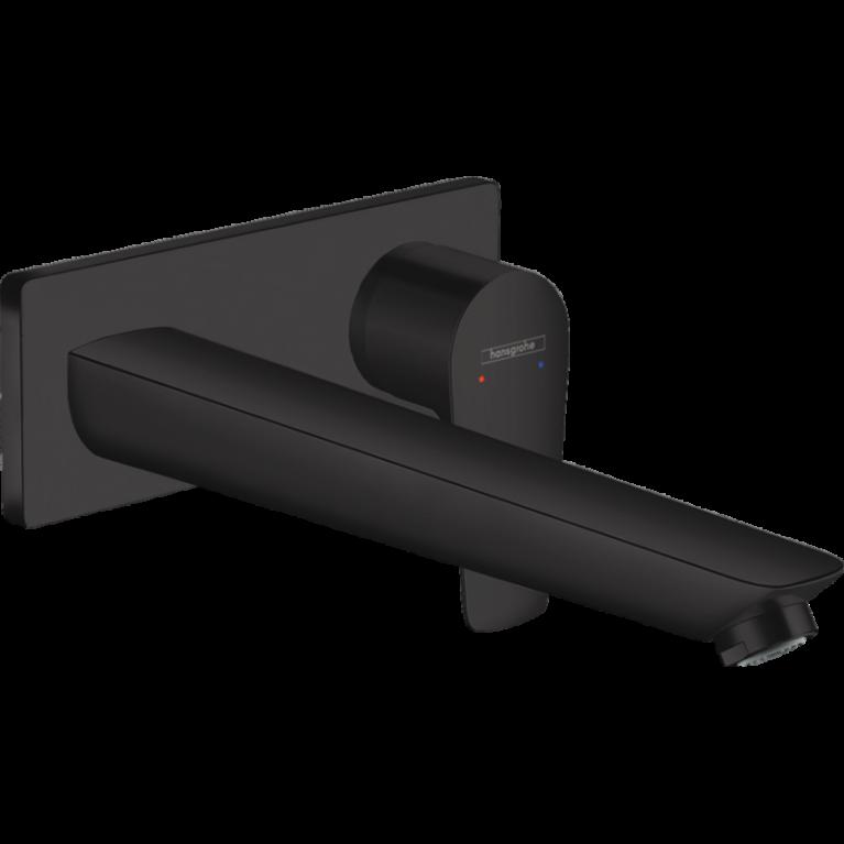 Смеситель для раковины Hansgrohe Talis E , однорычажный, скрытого монтажа, цвет покрытия матовый черный, фото 1