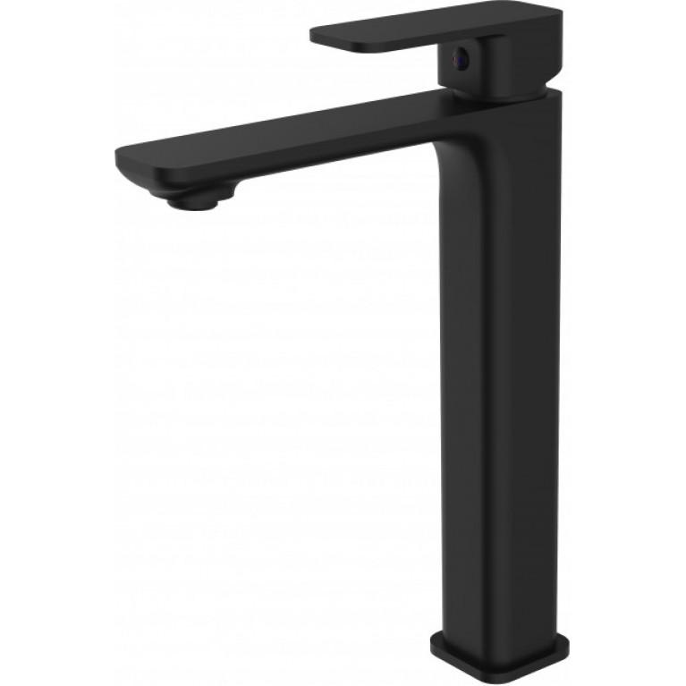 Смеситель для умывальника IMPRESE BILOVEC  высокий, черный мат, 35 мм