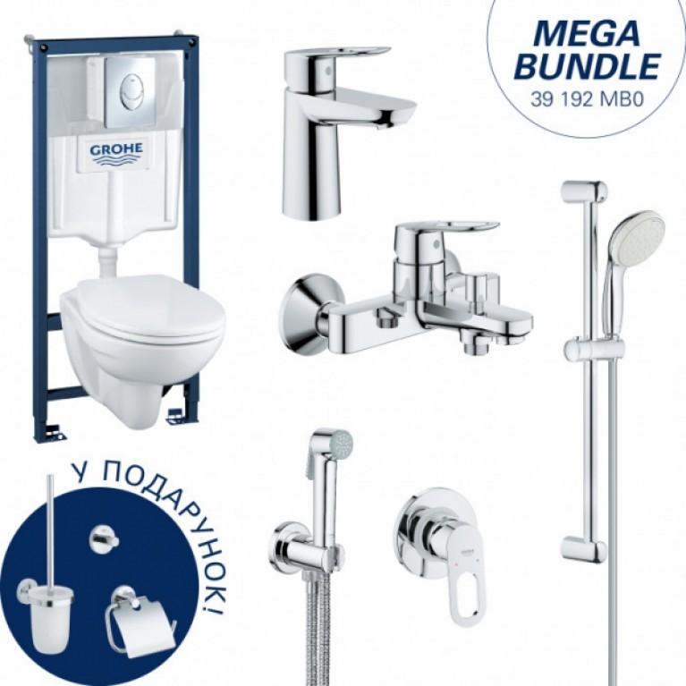 Набор: GROHE SОLIDO инстал.+подв. унитаз+BАULOOР гигиен набор+BAULOOP набор смес. для ванны+ЕSSENTIALS