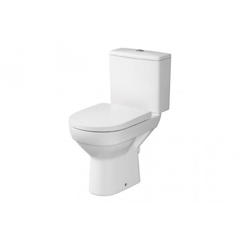Унитаз напольный Cersanit CITY CLEAN ON 010, в комплекте с бачком 3/5, с сиденьем дюропласт, с системой плавного опускания