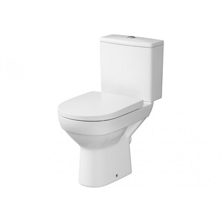 Унитаз напольный Cersanit CITY CLEAN ON 011, в комплекте с бачком 3/5, с сиденьем дюропласт с системой плавного опускания