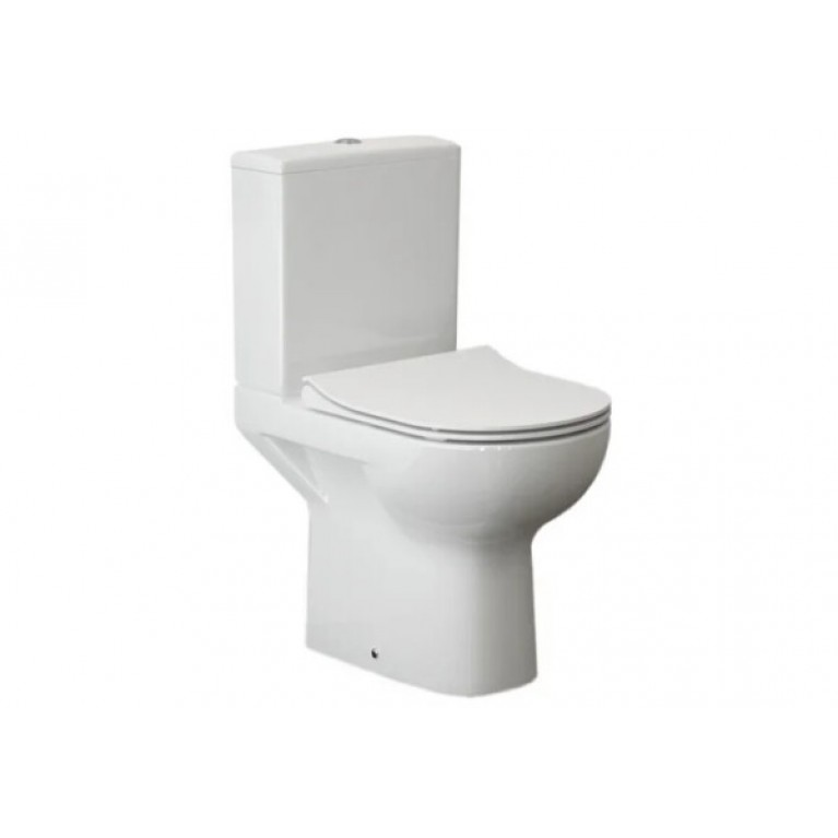 Унитаз напольный Cersanit CITY CLEAN ON 011, в комплекте с бачком 3/5, сиденьем дюропласт SLIМ с системой плавного опускания