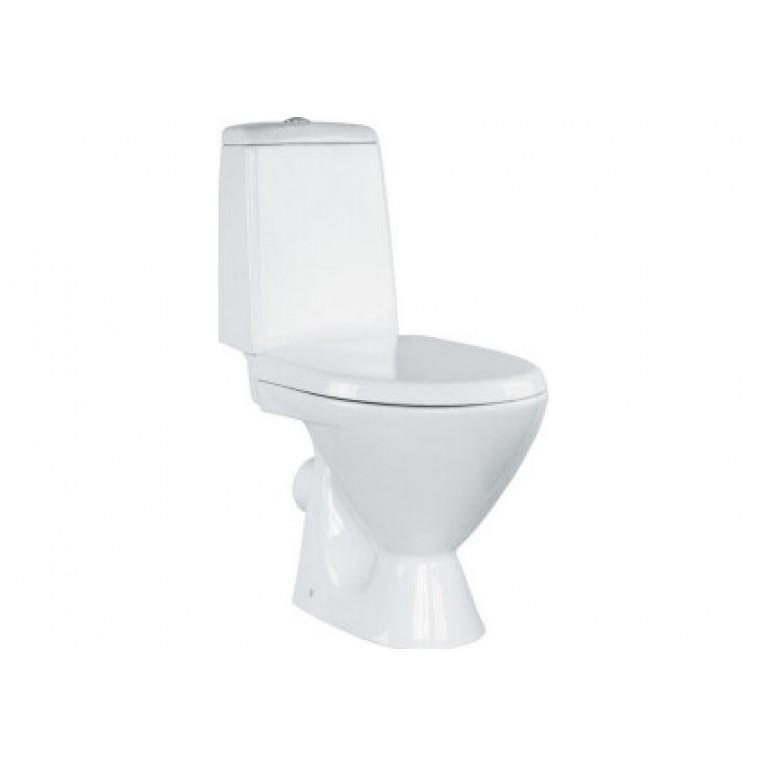 Унитаз напольный Cersanit ARKTIK 011 , в комплекте с бачком 3/6, с сиденьем пропилен