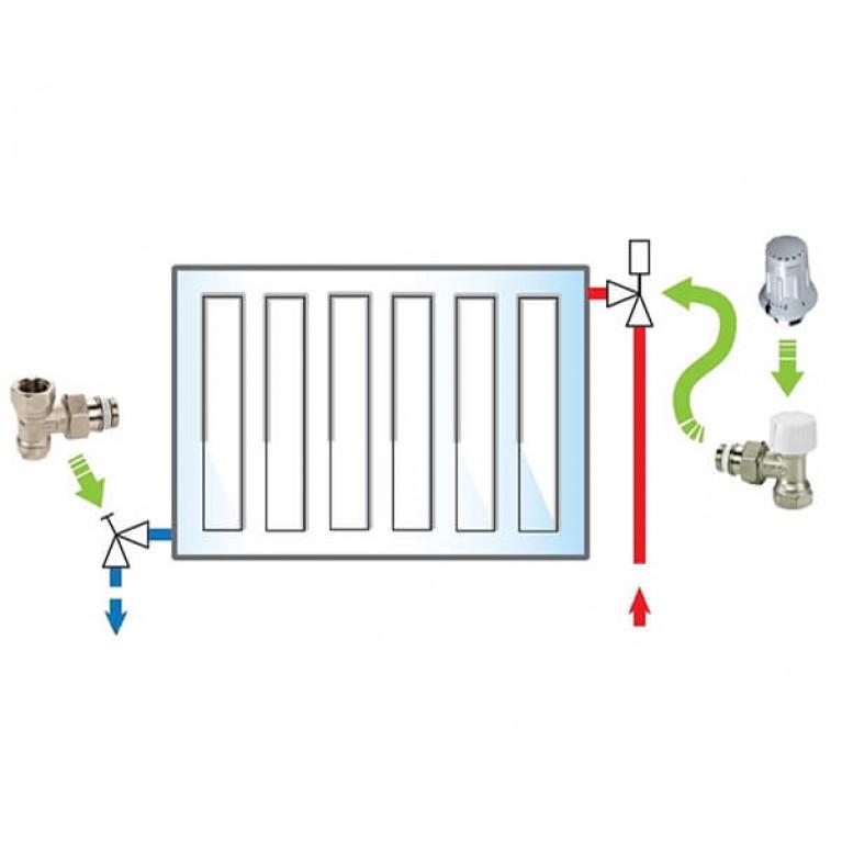 Пакет Meibes №2 Exclusive (термоголовка 1352392 - 1 шт, термоклапан 1238101 - 1 шт, вентиль F10382 - 1 шт)