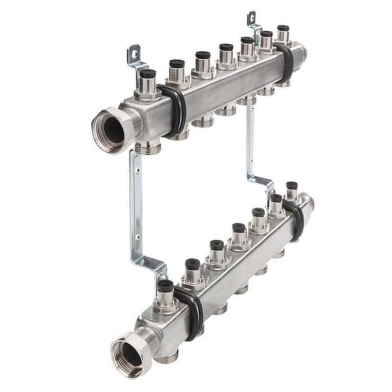 Коллектор для отопления TECEflex  на 7 выходов с запорными вентилями