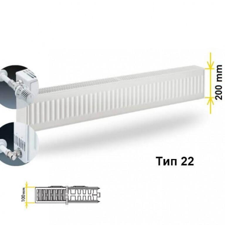Радиатор Kermi FKO 22 200x3000 боковое подключение