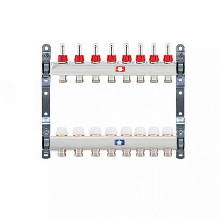 Купить Коллектор для теплого пола Itap 1x3/4 на 8 выходов с расходомерами у официального дилера Itap в Украине