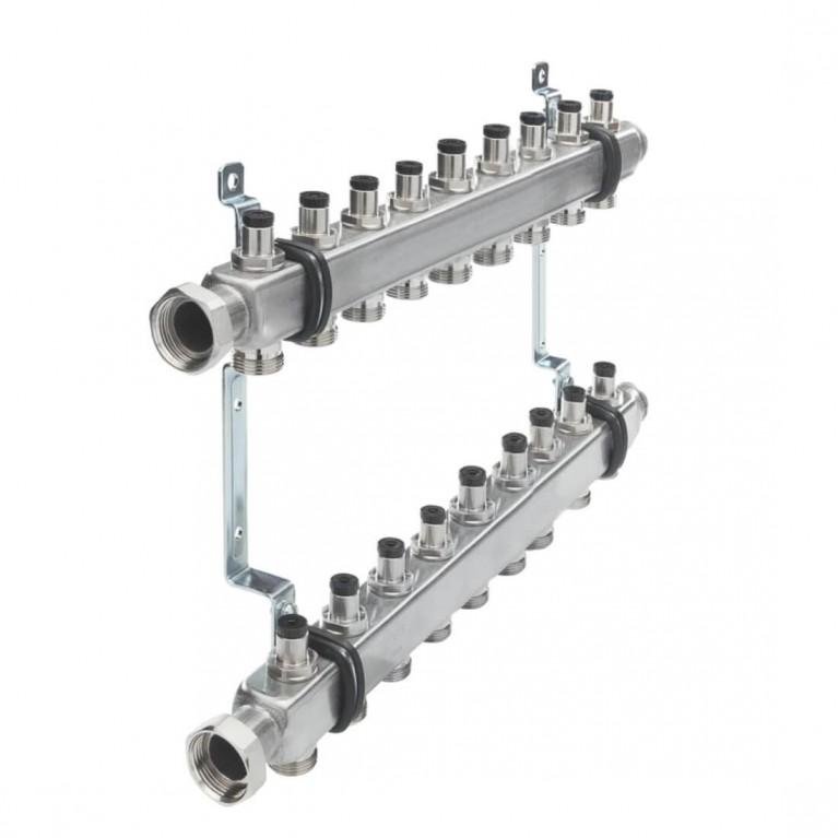 Коллектор для отопления TECEflex  на 9 выходов с запорными вентилями