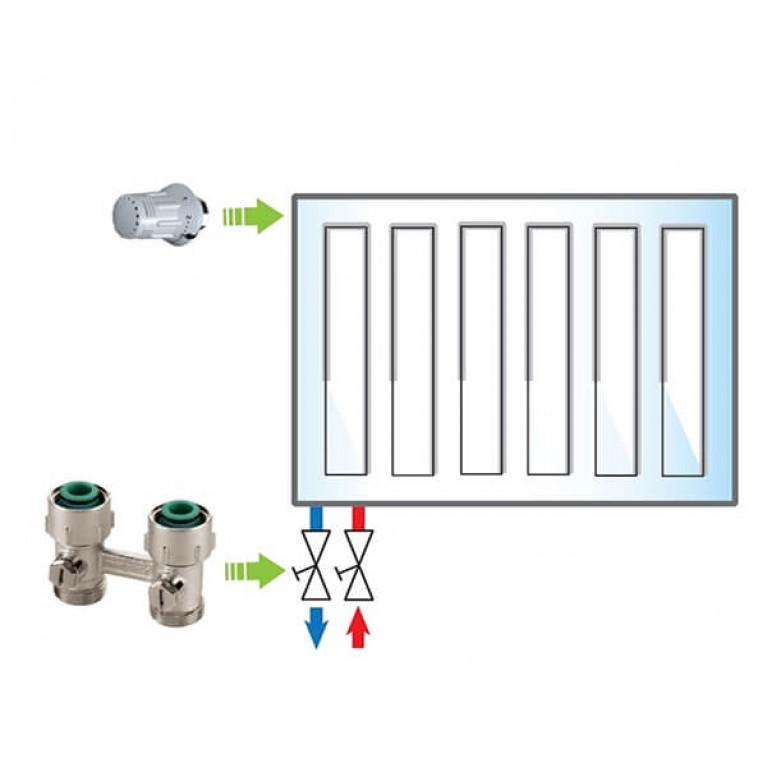 Пакет Meibes №6 Exclusive (термоголовка 1352392 - 1 шт, узел нижнего подключения F10014 - 1 шт)