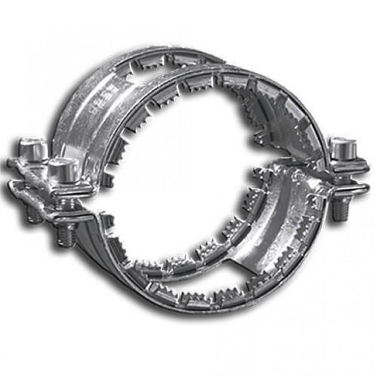 Хомут соединительный из черного металла Kombi grip collar, DN 150