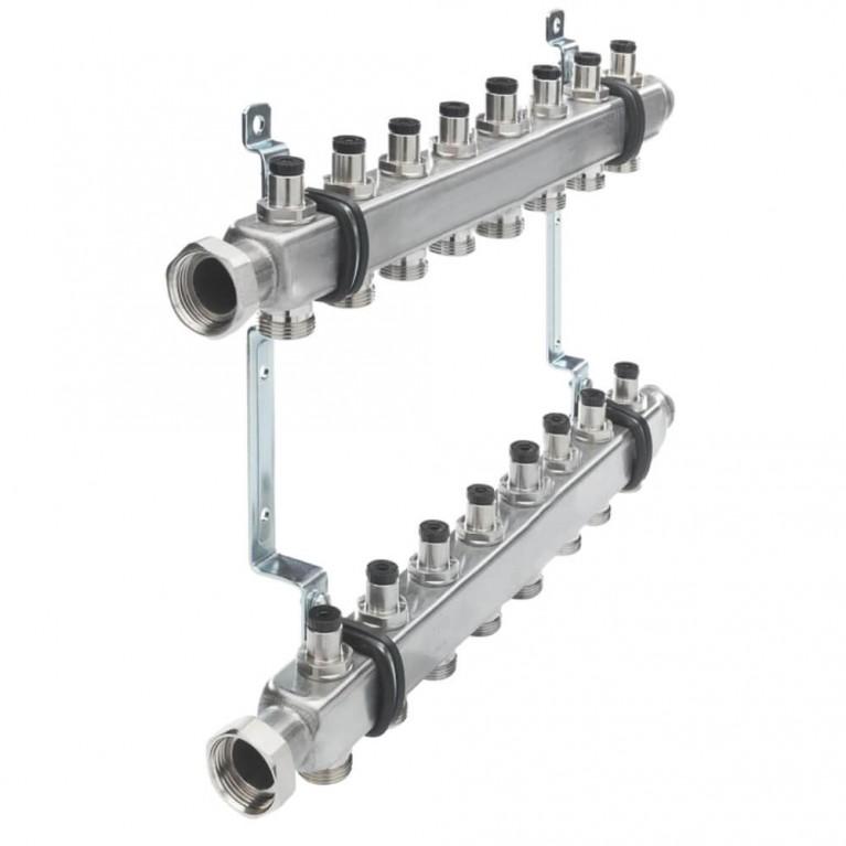 Коллектор для отопления TECEflex  на 8 выходов с запорными вентилями