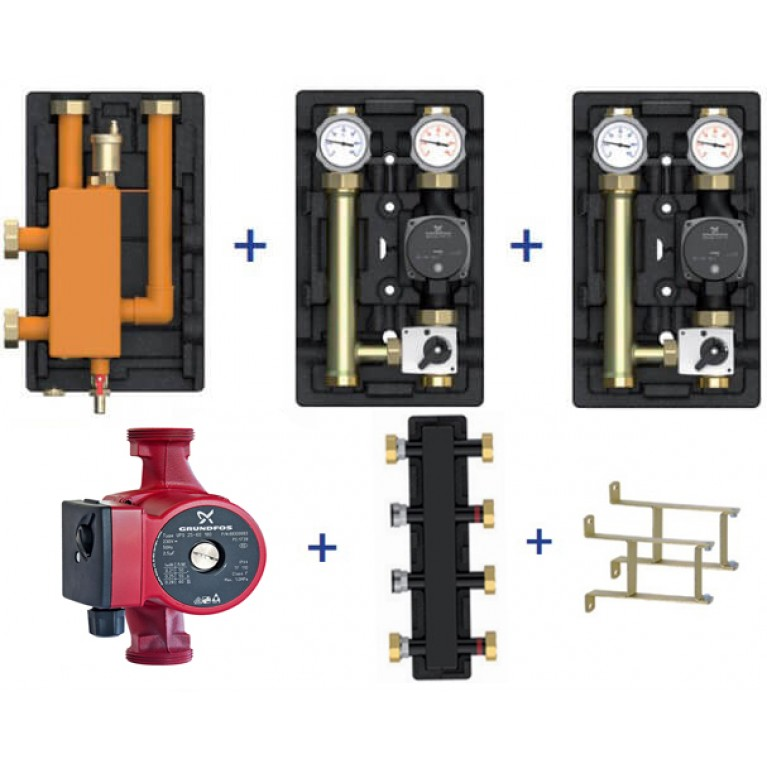 Пакетное предложение Meibes Action-3 Plus – MK/MK (насос + коллектор + стрелка + консоли)