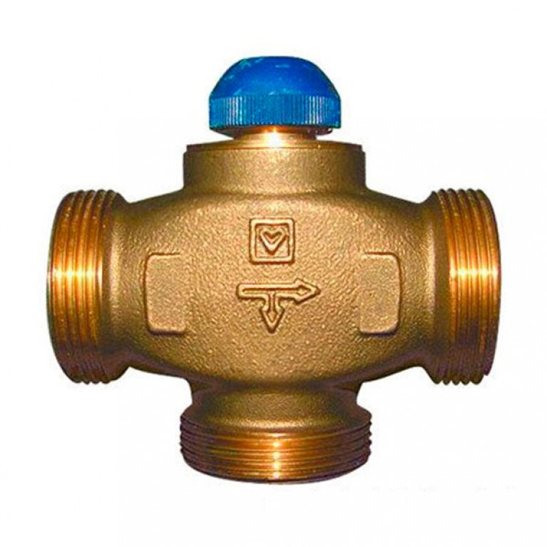 Трехходовой термостатический клапан HERZ CALIS-TS-RD DN 25 1 1/4 НР
