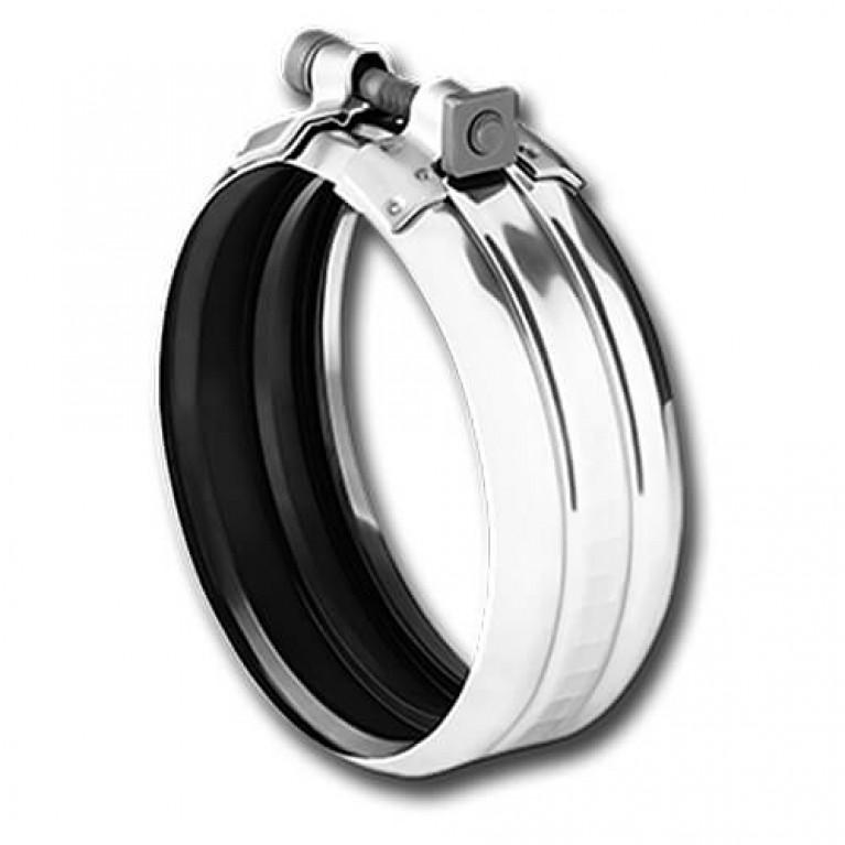 Купить Хомут соединительный из черного металла Dukorapid, DN 150 у официального дилера Duker в Украине