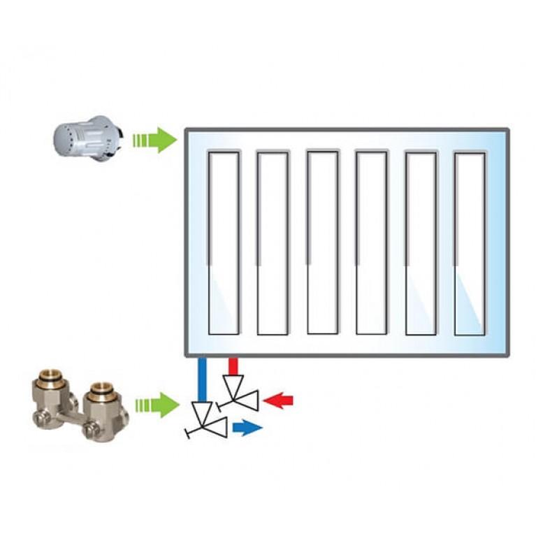 Пакет Meibes №4 Basic (термоголовка 1352392 - 1 шт, узел нижнего подключения F10016 - 1 шт)