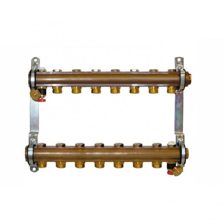 Коллектор для теплого пола Herz G 3/4 на 8 контуров без расходомеров