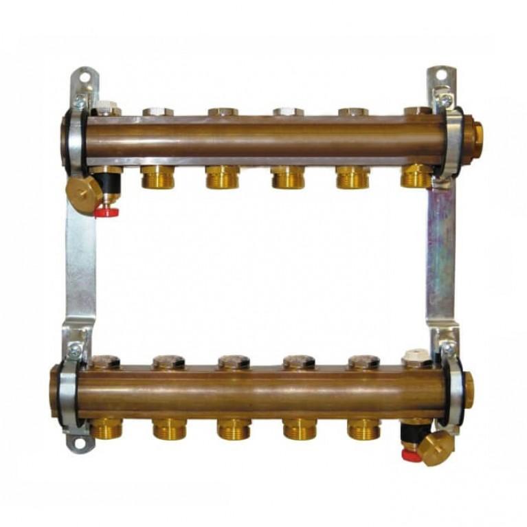 Коллектор для теплого пола Herz G 3/4 на 6 контуров без расходомеров