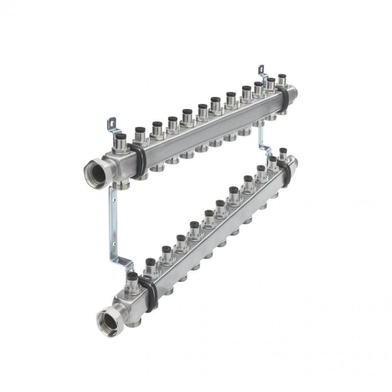 Коллектор для отопления TECEflex  на 12 выходов с запорными вентилями