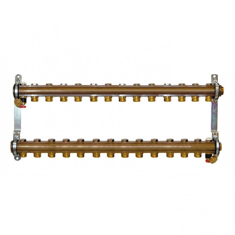 Коллектор для теплого пола Herz G 3/4 на 14 контуров без расходомеров