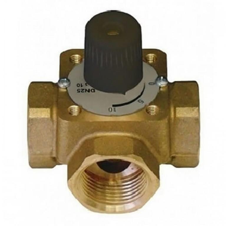 Трехходовой смесительный клапан, kvs 6.3, DN 20 ВР, корпус и шар из DZR-латун