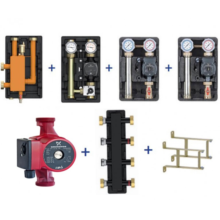 Пакетное предложение Meibes Action-4 Plus – UK/UK/MK (насос + коллектор + стрелка + консоли)