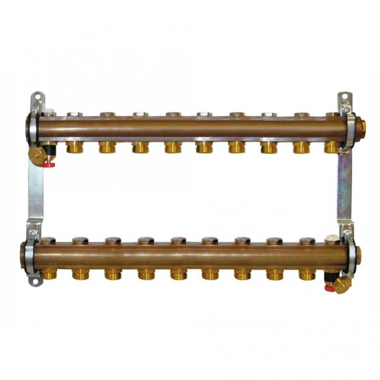 Коллектор для теплого пола Herz G 3/4 на 10 контуров без расходомеров