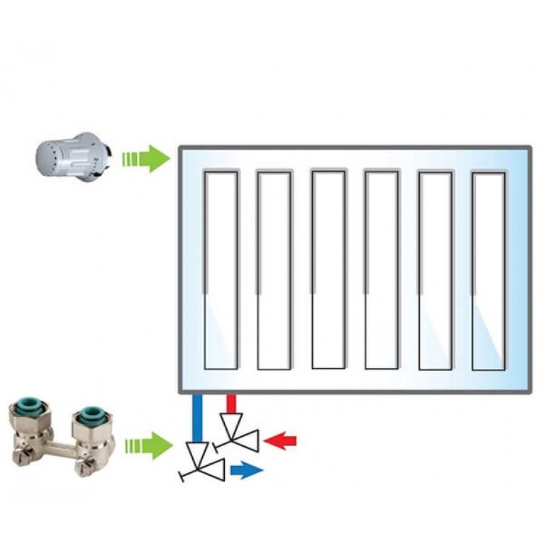 Пакет Meibes №4 Exclusive (термоголовка 1352392 - 1 шт, узел нижнего подключения 1230131 - 1 шт)
