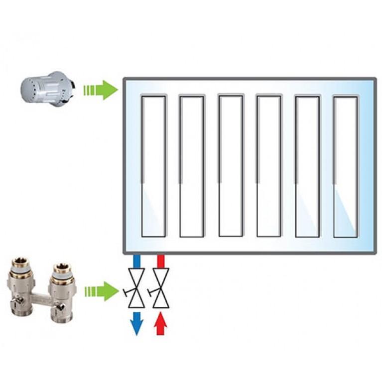 Пакет Meibes №5 Exclusive (термоголовка 1352392 - 1 шт, узел нижнего подключения F10010 - 1 шт)