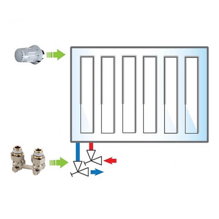 Пакет Meibes №3 Exclusive (термоголовка 1352392 - 1 шт, узел нижнего подключения F10012 - 1 шт)