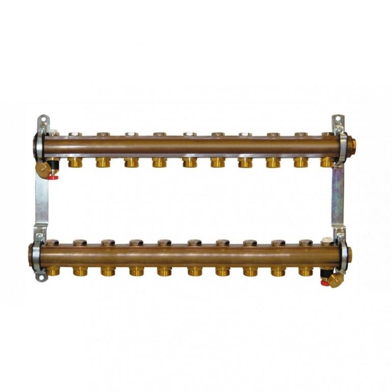 Коллектор для теплого пола Herz G 3/4 на 11 контуров без расходомеров